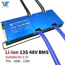 13S BMS 48V 3.7V סוללת ליתיום הגנת לוח השוואת טמפרטורה זרם יתר הגנת PCB 70A 100A 130A