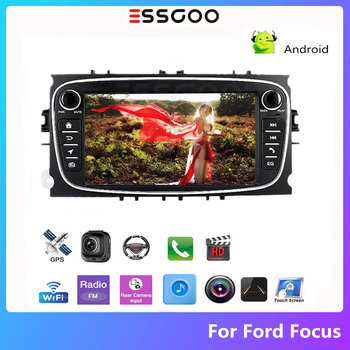 Essgoo Autoradio 2 din Android Car Radio Stereo For Ford Focus C-Max Bluetooth 7'' GPS Navigation Auto Multimedia Player 2din image