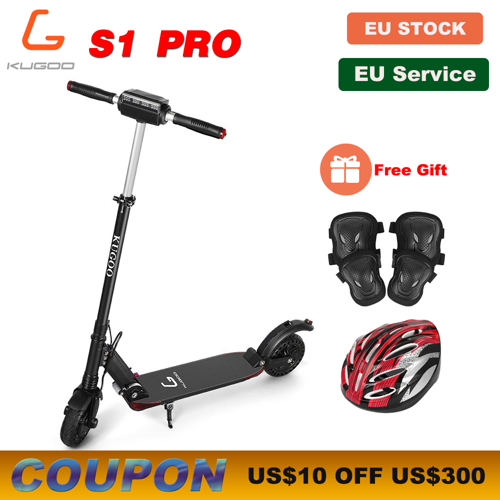 [Europa] Banco KUGOO S1 PRO Adulto Scooter Elétrica Dobrável 350W 30 KMH Display LCD e Scooter Melhor m365 Dualtron PK Ninebot