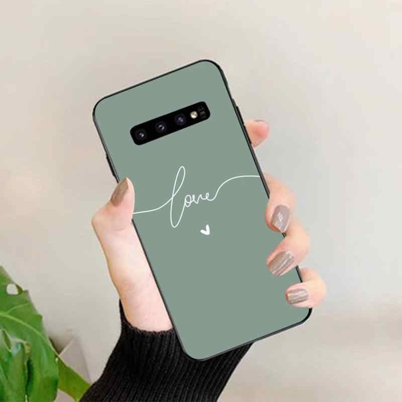 Lvtlv Đơn Giản Nghệ Thuật Tình Yêu Màu Hồng Hert Điện Thoại Ốp Lưng Dùng Cho Samsung S20 Plus Cực S10 Plus S8 S9 Plus s7 Edge S10 Lite S10 5G