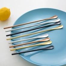 Японский стиль, кофейная палочка, 304 нержавеющая сталь, зеркальная кофейная ложка, длинная ручка/короткая ручка, десертная ложка, новинка