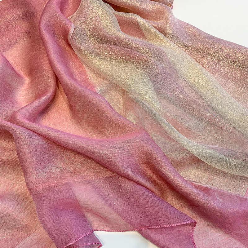 Sciarpa di Seta Delle Donne Morbido Lungo Autunno Inverno Sciarpe di Modo 2019 Solido Scialli E Impacchi di Alta Qualità Foulard Pashmina Hijab Bandana