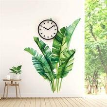 Nordic planta verde adesivos de parede decoração para casa sala de estar tropical tropical palmeira folhas decalque da parede mural crianças quarto papel