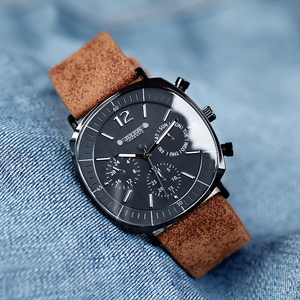 Image 5 - Mannen Business Sport Horloges Zwitsers Quartz Kalender Waterdicht Horloge Mens Fashion Lederen Band Roestvrij Klok Nieuwe Wacht