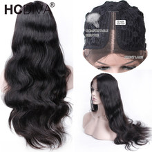 Middle Part 28inch Human Hair Wigs For Women 13*1 Lace Part Wig Glueless 150% Brazilian Body Wave Human Hair Lace Wig Remy Hair