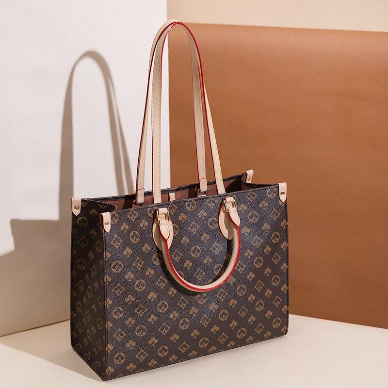 حقيبة نسائية فاخرة جديدة ملونة مطبوعة حقيبة يد للنساء حقيبة عصرية حقائب يد سعة كبيرة شنطة كتف واحدة