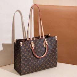 Luxury New Printed Color Matching Phopping Bag Women's Bag Fashion Tote Handbags Large Capacity One-Shoulder Handbags