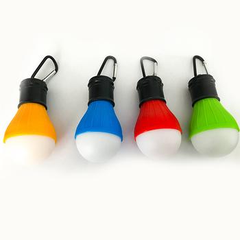 Mini przenośna latarnia oświetlenie namiotu LED żarówka lampa awaryjna wodoodporna wisząca latarka z haczykiem na kemping 4 kolory użyj 3 * AAA WWO tanie i dobre opinie KISS-THE NIGHT CN (pochodzenie) NONE Żarówki led Light Suche baterii Klin