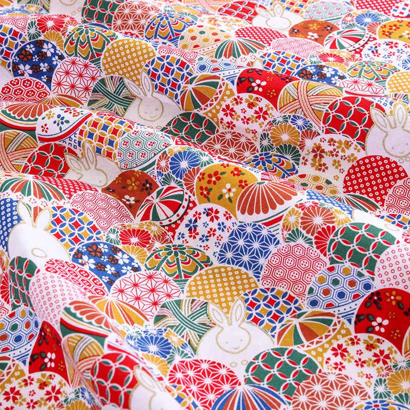 Japońska bawełna drukowane tkanina patchworkowa materiał do pikowania do szycia lalki i torby akcesoria do rękodzieła 20X2 5 cm/sztuk TJ0361