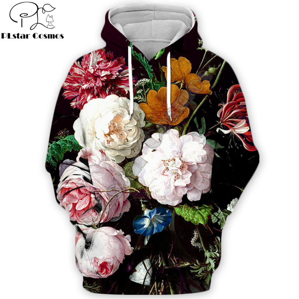 PLstar Cosmos 2019 Autumn Fashion Men Women 3D Hoodies Rose/peony Flowers Full Printed Casual Hooded Sweatshirt/zip Hoodie
