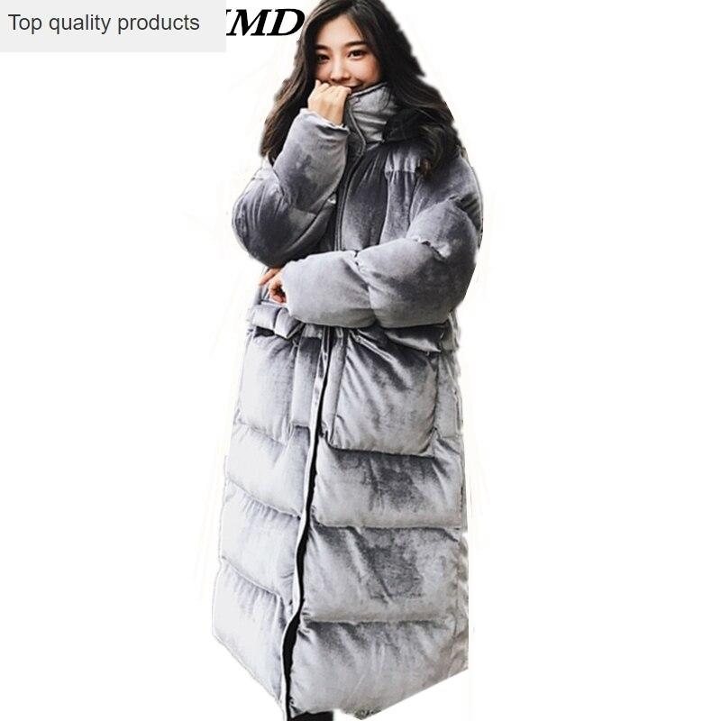 Women/'s Cotton Coat Fur Collar Warm Hooded Parka Jacket Winter Loose Top Outwear