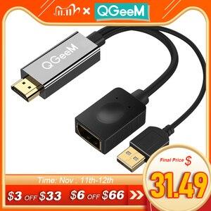 Image 1 - QGEEM HDMI ZU DisplayPort Adapter 4K HDMI ZU DP Kabel HDTV Adapter Konverter Männlichen zu Weiblichen Unterstützung 1080P für HDTV HDMI ZU DP
