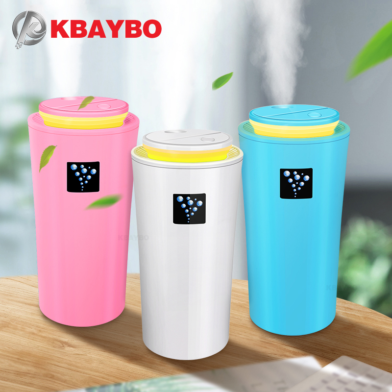 KBAYBO 260ML USB Car Humidifier Ultrasonic Humidifier Mini Air Diffuser Humidification Mist Maker With LED Light For Home Office