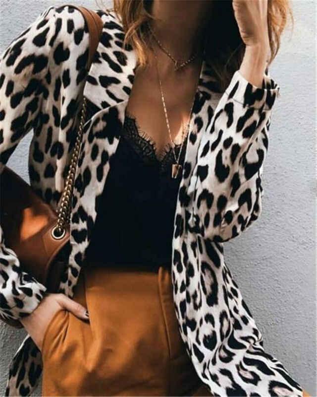 Новинка 2019, хит, женское леопардовое длинное пальто с капюшоном, куртка, женский Кардиган с длинным рукавом, худи, верхняя одежда, Женское пальто на весну и осень