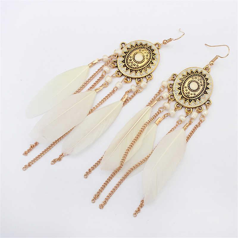 New Arrival Vintage ผู้หญิงต่างหูแฟชั่นโบฮีเมียนสานพู่ต่างหูแฟชั่น Drop Earrings อุปกรณ์เสริมเครื่องประดับ Bijoux