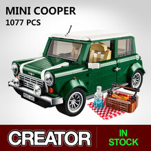 Série de técnica mini cooper criador especialista carro blocos de construção compatível 10242 tijolos clássico modelo carro para crianças presente