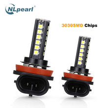 NLpearl 2x Car Fog Lamp H11 Led Bulb Yellow H9 H8 9005 HB3 9006 HB4 H4 H7 H1 H3 H27 880 881 Light Bulbs 3000K