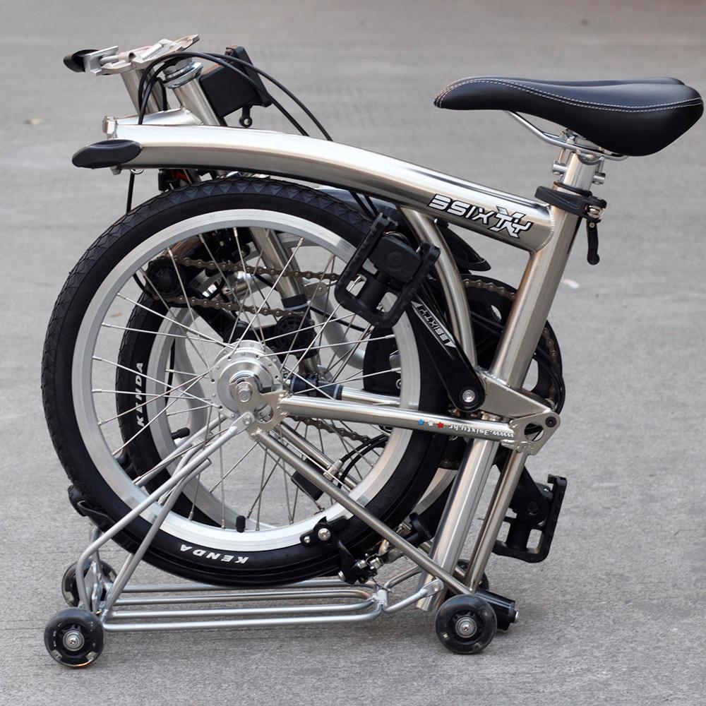 3SIXTY Chrome Steel Folding Bike 16