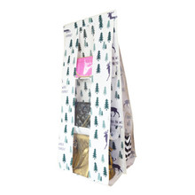 New multi-functional fabric cotton and linen dustproof double bread bag Wardrobe hanging multi-layer perspective storage
