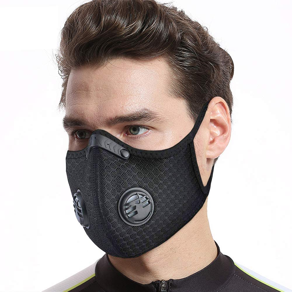 Dust PM2.5 Anti-fog Cycling Face Mask Reusable Face Mask With 10 Pcs Activated Carbon Filters Respirators For Working Protection