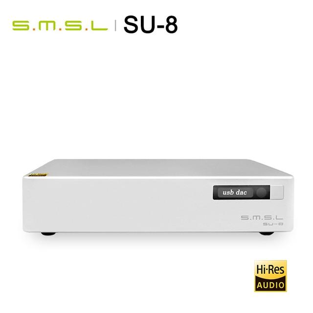 SMSL S.M.S.L SU 8 yüksek çözünürlüklü DAC ES9038Q2M * 2 DSD 64/512 PCM 44.1/768kHz USB/optik/Koaksiyel dekoder
