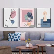 Peinture murale en toile sans cadre, décoration artistique vague de caractère abstrait pour salon bureau meuble TV cuisine maison