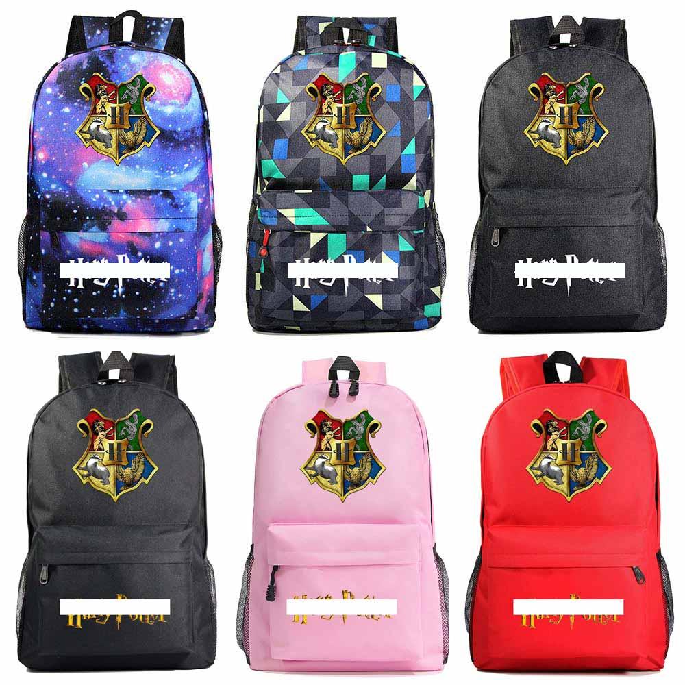 Fashion Cartoon Emblem Hogwarts Magic School Boy Girl Book School Bag Women Bagpack Teenagers Schoolbags Men Student Backpack
