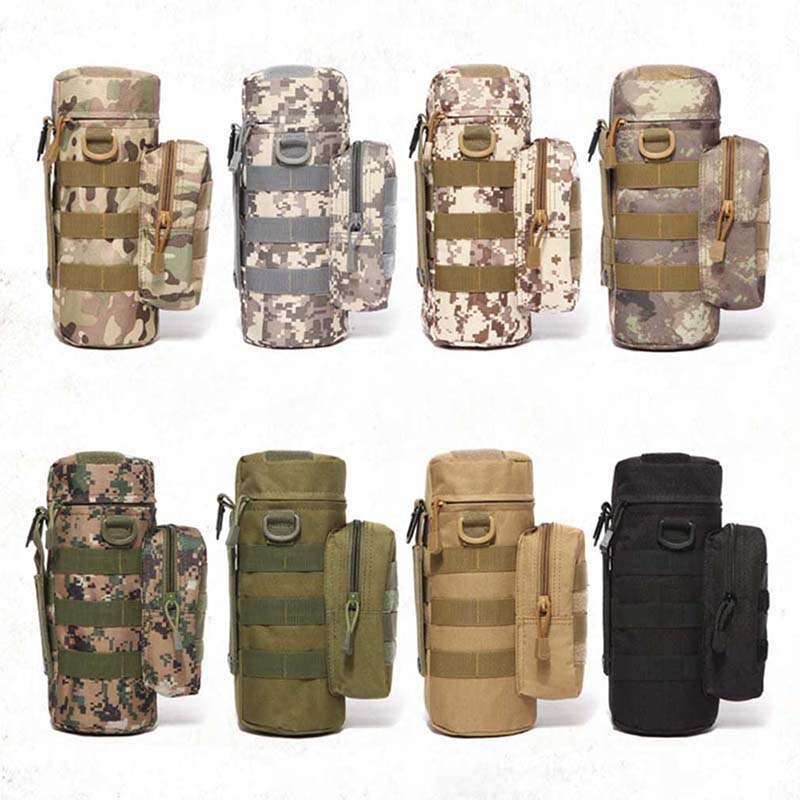Travel Tool Kettle Set Outdoor Tactical Military Molle System Water Bags Bottle Holder EDC Multifunctional Bottle Pouch