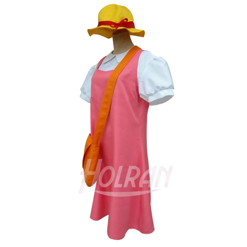 Tonari no Totoro Cosplay Costume Mei Kusakabe Cos shirt Braces skirt hat bag Suit uniform Sets