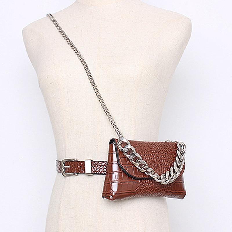 Waist Pack Leather Fanny Pack Waist Belt Bags For Women 2019 Mini Shoulder Bag Female Fashion Phone Waist Bag High Quality Purse