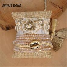 Женский браслет с бусинами shinusbohohoboho летний нарукавник