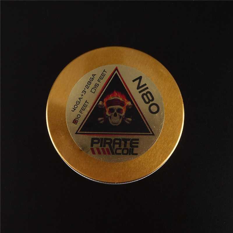 القراصنة لفائف الإكسسوارات Ni80 أسلاك التسخين القراصنة 3 الأساسية كلابتون يتوهم أسلاك التسخين للسجائر الإلكترونية 3m 40GA + 3*28