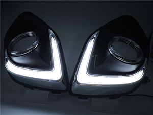Image 3 - 1Set LED DRL COB Daytime Running Lights Daylight Waterproof Fog Head Lamp with Signal For Mitsubishi ASX 2013 2014 2015