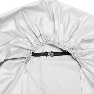 Image 5 - Silver Black 190T Dust UV Protector Sun Snow Rain Proof Waterproof Motorcycle Covers Cover Coat M L XL XXL XXXL D45