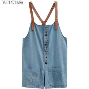YUPINCIAGA Women Playsuits Pants Jeans Girl Casual Denim Loose for And Student Sweet-Style