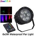 2 шт./лот водонепроницаемый LED Par 6X3W RGB 3in1 свет открытый DMX 512 эффект сценический свет профессиональный сценический DJ Clud лампа