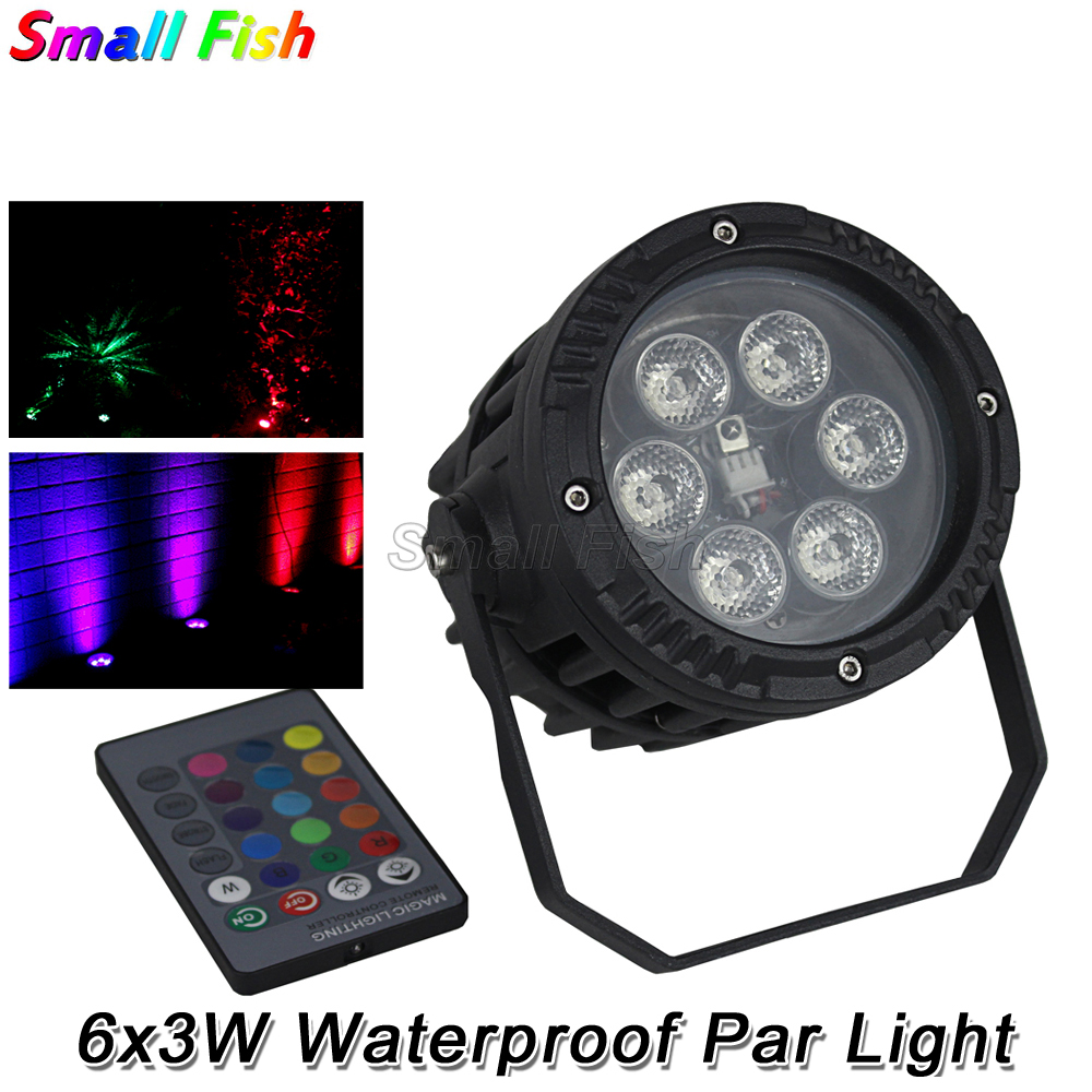 2Pcs/Lot Waterproof LED Par 6X3W RGB 3in1 Light Outdoor DMX 512 Effect Stage Lights Professional Stage DJ Clud Lamp