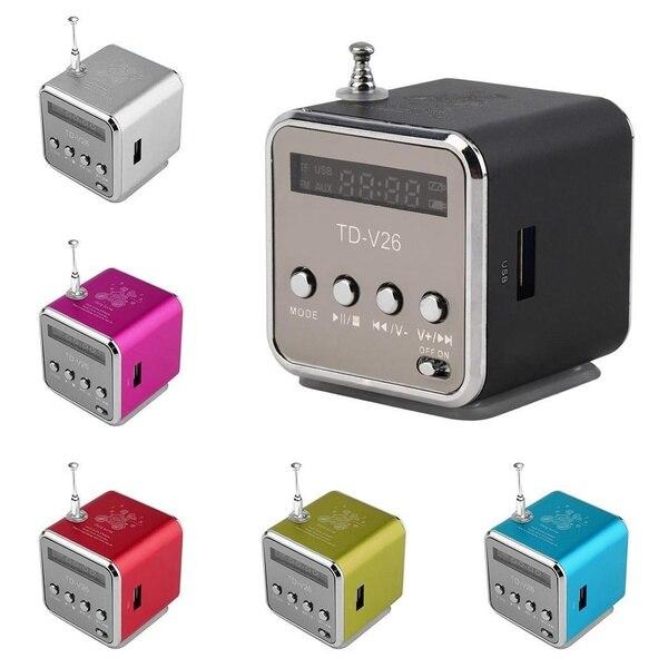 TD-V26 алюминиевый Digita linternet радио FM приемник SD USB воспроизведение стерео Altavoz мини Динамик портативное FM радио и RU632