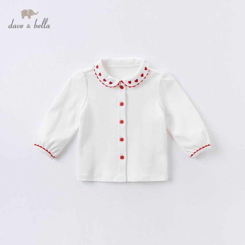 DBJ14956 1, dave bella, осенние Рубашки с вышивкой для маленьких девочек, топы для малышей, детская одежда высокого качества|Блузки и рубашки| | АлиЭкспресс