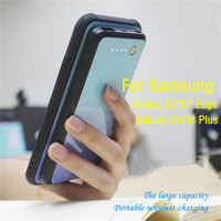 Magnetische Batterie Lade Abdeckung für Galaxy S7 Batterie Fall Wireless Power Ladegerät Fall für Samsung Galaxy S8 S8 Plus