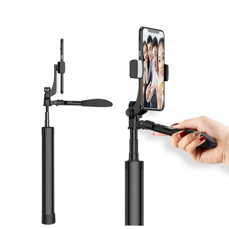 Handheld Gimbal Stabilizer Bluetooth remote control with fill light YouTube Video Vlog Tripod Anti-Shake for Phone