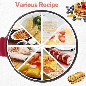 220V Home pancake pan Non-stick Electric Crepe Pizza Maker Pancake Griddle Baking Pan Cake Machine Kitchen Cooking Tools Crepe цена 2017