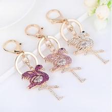 2019 New Flamingo Keychain Key Ring  Fashion Animal Chain for Men Women Bag Ornament Phone keyring Decoration