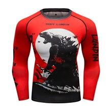 MMA Rashguard bjj Jiu jitsu футболка s Мужская Муай Тай футболка футболки с изображением кикбоксинга дышащая бокса боев MMA одежда боксерский Джерси