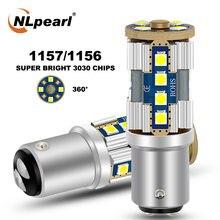 Nlpearl 2x сигнальная лампа 1157 led bay15d тормозной светильник