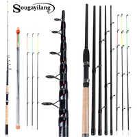 Sougayilang 3,0 M 3,3 M 3,6 M L M H alimentador De potencia caña De pescar Spinning con accesorios gratis caña De pescar De viaje