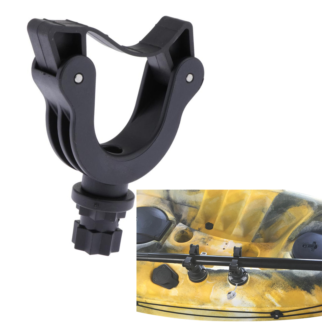 Paddle Holder For Stand Up Paddle Boards And Kayaks, Deck Side Track Mounted - Durable & Lightweight