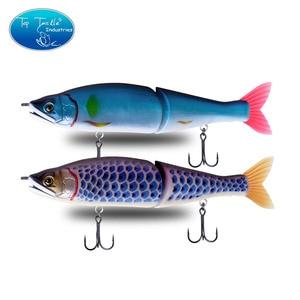"Image 5 - 148mm 5.8 178mm 7"" 220mm 8.7 איטי שוקע מלוחים או צף מים מתוקים גדול בס מפרקים פיתיונות Swimbait דיג פתיונות"