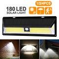 4 шт. 180 светодиодный светильник с датчиком движения на солнечной энергии COB 3 режима Открытый Сад Двор водонепроницаемый энергосберегающий ...