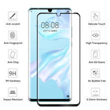 100Pcs Full Coverage Tempered Glass For Huawei P8 Lite 2017 P9 Lite Mini P10 Plus P20 Pro P30 Screen Protector Full Glue Film(China)